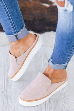 """On the hunt for the perfect slip on for this summer? Well, you're in luck because our Dakota Slip On Sneaker are a must-have this season! These sandals feature super comfortable, stylish small platform, and are so fun to style! Wear them with your favorite cutoffs or a fun summer dress, either way, you're going to love the way these sandals feel and look. Heel Height Measures: 1"""" Teacher Outfits, Teacher Clothes, Best Summer Dresses, Cutoffs, Working Woman, Shoe Game, Shoe Boots, Platform, Slip On"""