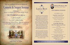 You're invited to attend the Cosmetic & Surgery Seminar, featuring Michael Workman, MD and Natalia Barko, ARNP, held at The Marcus Whitman Hotel. Plus, check out these other great upcoming events at Lazuli Blue Med Spa. #CoolSculpting