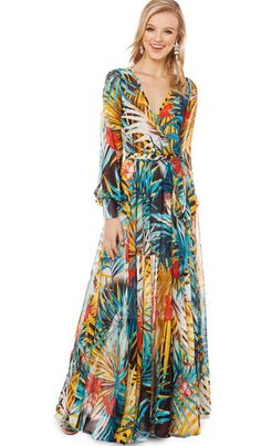 e8c26130b2ca A Tropical Rainforest Flowery Printing Plant Flowers Dress on Luulla