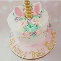 #unicorn #cake #kake #enhjørning #inspiration #inspirasjon #pastel #dinbabyshower #nettbutikk #detlilleekstra #babyshower #dåp #navnefest : @vanillapatch_cakes