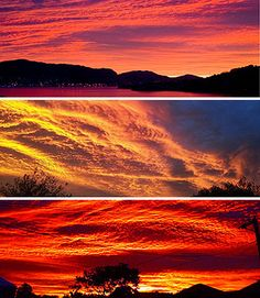 An amazing sunrise. New Zealand, April 10th 2012.