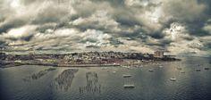 Panorama of East End, Portland, Maine.