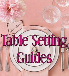 Wedding Wednesday: Table Setting Guides #PreppyPlanner