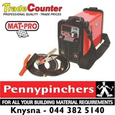 MATPRO WELDER ECONO DIY 200A - Efficient inverter technology ideally suited to #DIY or maintenance applications. Its light weight and convenient carry strap make it ideal for #home use and it is available from Pennypinchers Knysna.