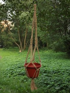 Macrame Plant Hanger Natural JUTE 4 Legs 31inch #1 Best Recommended For Indoor/F by Eternalvalue on Etsy