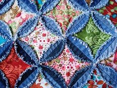 Cathedral Quilt Instructions | QUILTS - CATHEDRAL WINDOW QUILTS