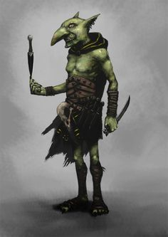 Fun subject for Character of the Week at ConceptArt, a Goblin Assassin serving the Goblin King's Royal Court. Fantasy Demon, Fantasy Monster, Fantasy Warrior, Fantasy Art, Fantasy Rpg Games, Fantasy Races, Fantasy Characters, Goblin Art, Goblin King