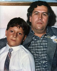 Juan Pablo Escobar (left), the son of Colombian drug boss Pablo Escobar (right) says he loves his father despite his reign of crime and terror through the South American nation