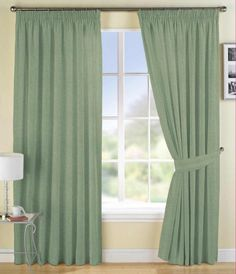 Living Room Curtain with green color