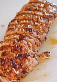 Pork Tenderloin - (marinated in olive oil, soy sauce, red wine vinegar, lemon juice, Worcestershire sauce, parsley, dry mustard, pepper and garlic)