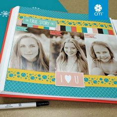 Be Bold & Flourish Papers and Slide-In Pack with the Bubbles Border Maker Cartridge. A layout in a snap! #CreativeMemories