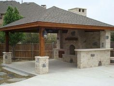 When it has to do with relaxing outside, we like to consider a gazebo as the ideal backyard getaway. For those things you may increase the gazebo afte. Backyard Pavilion, Backyard Patio Designs, Backyard Landscaping, Backyard Ideas, Patio Ideas, Landscaping Ideas, Gazebo Ideas, Pergola Kits, Sloped Backyard