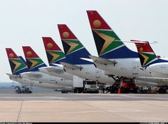 South African Airways. I used to work on the domestic and international flight roster, so I worked on these babies too!