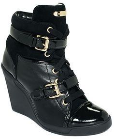 MICHAEL Michael Kors Skid Wedge Sneakers...got these for my b'day in the both colors
