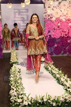 Wedding Party Paplam Frock in Different Colors With Dabka Zari Threads – Nameera by Farooq Pakistani Wedding Outfits, Pakistani Dresses, Indian Outfits, Wedding Dresses, Latest Long Dresses, Pakistan Bride, Girls Fancy Dresses, Short Frocks, Designer Anarkali Dresses