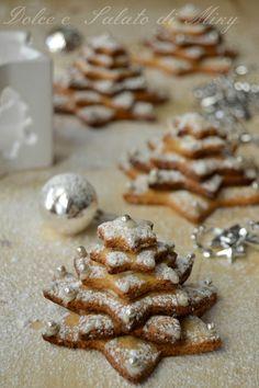Ricetta Biscotti alberi di Natale| Dolce e Salato di Miky