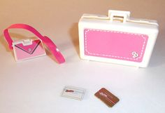 1980s Barbie purse lugage and credit cards by 3penniesfromheaven