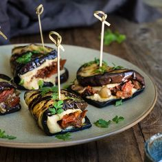 Eggplant hummus wraps - perfect for an appetizer or lunch.