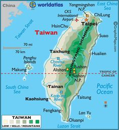 Taiwan large color map