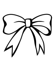 Free Coloring Pages Of Pink Bow