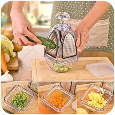 Bell Grater - Shred, Slice, Mince in Style