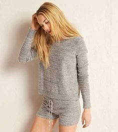 Aerie Pullover Sweater.  Cozy up to a supersoft sweater. #Aerie