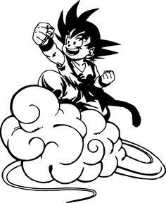Kid Goku Nimbus Cloud Dragon Ball Z Wall Car Laptop Custom Vinyl Sticker Decals Cloud Tattoo, Dark Tattoo, Chibi Goku, Cartoon Character Tattoos, Cloud Drawing, Kid Goku, Anime Tattoos, Dragon Ball Z, Illustrations