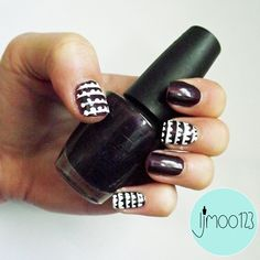 patterned freehand nails by ljmoo123