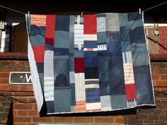 Denim and scraps quilt by jo simmo morgan
