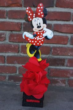 Traditional Red Minnie Mouse birthday Centerpiece Party favor Great for Candy Buffet Food Court Table Gift Table Centerpiece Mickey Mouse Mickey Decorations, Minnie Mouse Birthday Decorations, Minnie Mouse 1st Birthday, Red Minnie Mouse, Pink Minnie, Unicorn Birthday, Kids Centerpieces, Birthday Centerpieces, Mini Mouse Baby Shower
