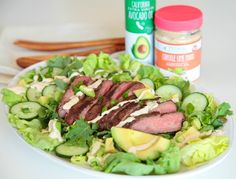 Steak and Avocado Salad with Primal Kitchen Chipotle Lime Mayo Dressing