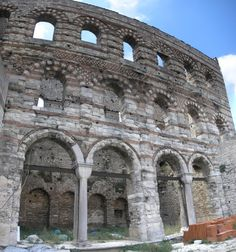 """The Palace of Porphyrogenitus, Byzantine ruins in Istanbul, Turkey. Wikimedia Commons.  Porphyrogenitus is a term that means """"born to the purple"""", or of Imperial Blood."""