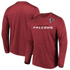 839096554d5 Atlanta Falcons Majestic Touchback Long Sleeve T-Shirt – Heathered Red