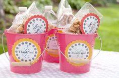 Goody bag idea - pails!