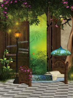 Kid Backdrops Cartoon Fairytale Background Candy Backdrop G 506 Studio Background Images Photoshop Backgrounds Romantic Background