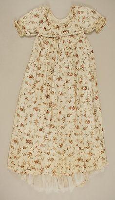 1795-1800 floral printed dress