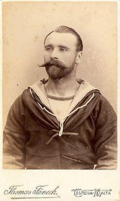 super sexy Victorian sailor man.. late 19th C. Malta