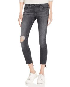 Frame Skinny Raw Stagger Jeans in Marcy - 100% Bloomingdale's Exclusive