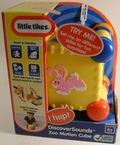 Little Tikes Discover Sound Zoo Motion Cube Easy Grip Teach Develop Learning Toy