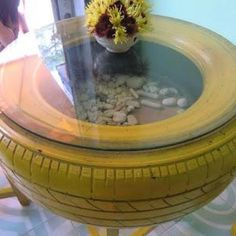 When you have vehicles' tires that are no longer useful and suitable for use on vehicles due to damage, then you have really durable material to make something new and pretty for your home. ...