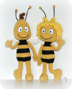 Maya the Bee - free crochet pattern