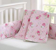 Savannah Nursery Bedding #PotteryBarnKids - ok, i like the pink better than the blue @Joanne Moore