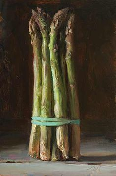 20cm x 30cm, oil on board Painting status: SOLD Daily painting for Wednesday 25 March, 2015 daily painting titled Asparagus - click for enlargement