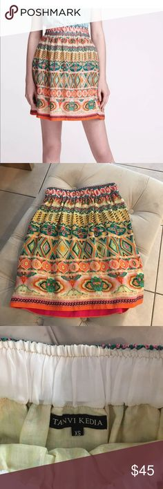 Tanvi Keiva multi colored anthropologie skirt Lightly used, a few beads missing can barely tell. Looks like it's been worn once. Tanvi Keiva multi colored anthropologie skirt Anthropologie Skirts Midi