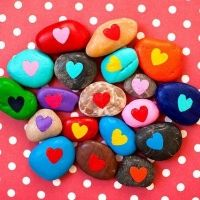 Friendship Heart Stones for Back to School or Valentine's