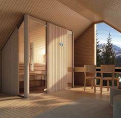 Finnish sauna AUKI EFFEGIBI customized variant attic