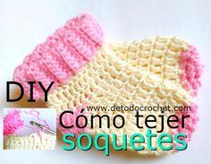 Cómo tejer soquetes fáciles a crochet paso a paso