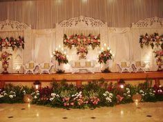 Wedding Mood Board, Wedding Stage, Dream Wedding, Wedding Prep, Rustic Wedding, Stage Decorations, Wedding Decorations, Indonesian Wedding, Flower Backdrop
