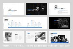 Grids-Minimal Keynote Template by Dublin_Design on @creativemarket