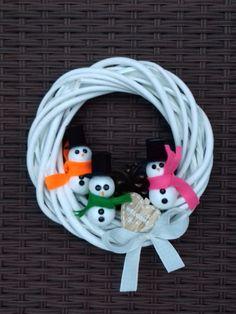 wreath_ snowman_homemade